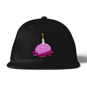black brain logo baseball cap front