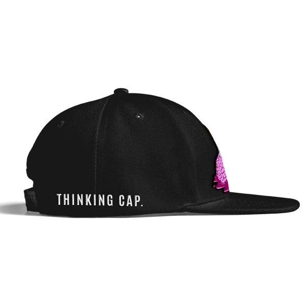black brain logo baseball cap right side